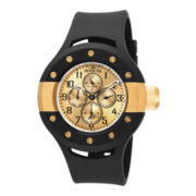 Invicta® S1 Rally Mens Gold-Tone Dial Black Silicone Strap Sport Watch