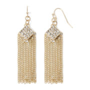 nicole by Nicole Miller® Crystal-Accent & Rose-Tone Tassel Earrings