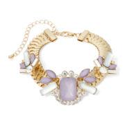 Gemma Simone™ Gold-Tone Purple Bracelet