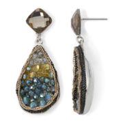 Gemma Simone™ Multicolor Bead & Chain Teardrop Statement Earrings