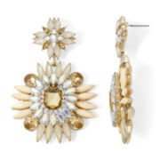Gemma Simone™ Neutral Flower Statement Earrings