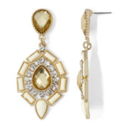 Gemma Simone™ Gold-Tone Neutral Pear Drop Statement Earrings