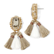 Gemma Simone™ Gold-Tone Tapestry Tassel Drop Earrings