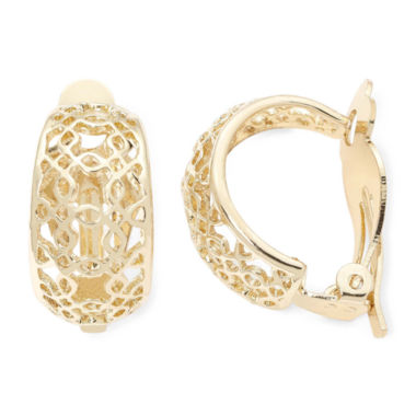 jcpenney.com | Liz Claiborne Gold-Tone Clip-On Hoop Earrings