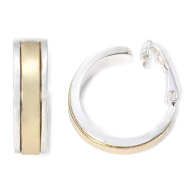 jcpenney.com | Liz Claiborne® Gold-Tone & Silver-Tone Clip-On Hoop Earrings
