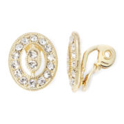 Monet® Gold-Tone Crystal Clip-On Earrings