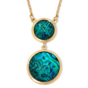 Monet® Gold-Tone Abalone Shell Pendant Necklace