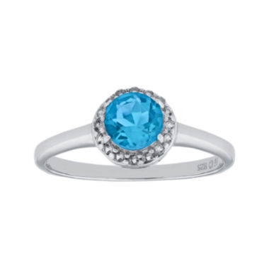 jcpenney.com | Faceted Genuine Blue & White Topaz Sterling Silver Ring