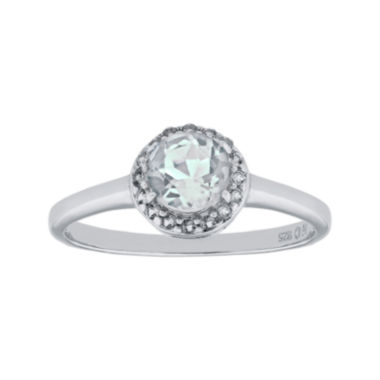 jcpenney.com | Faceted Genuine White Topaz Sterling Silver Ring