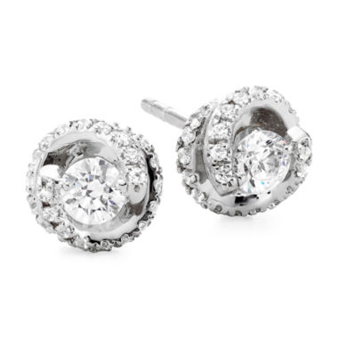 jcpenney.com | 1/2 CT. T.W. Diamond Spiral 10K White Gold Stud Earrings