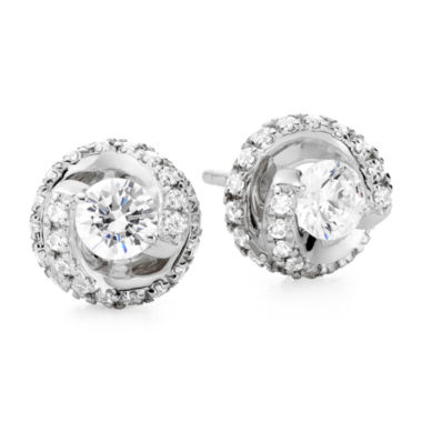 jcpenney.com | 1 CT. T.W. Diamond Spiral 10K White Gold Stud Earrings