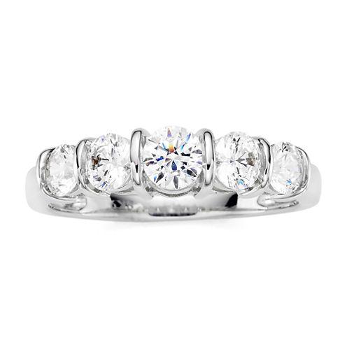 1 CT. T.W. Diamond 10K White Gold 5-Stone Ring