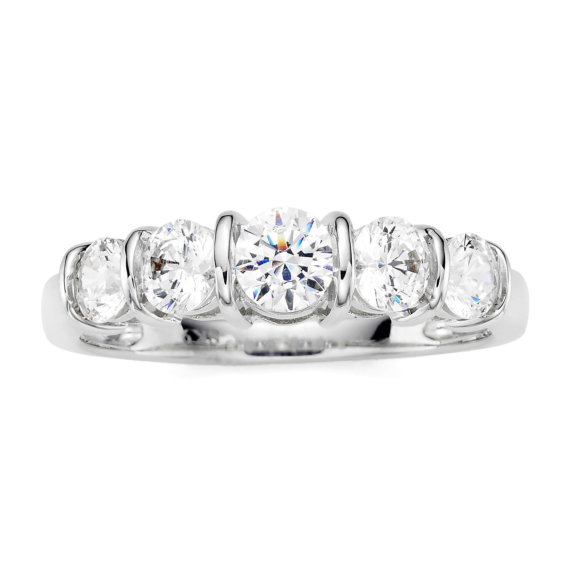 Wedding 20Bands jcpenney jewelry wedding rings T W Diamond 10K White Gold 5 Stone Ring JCPenney