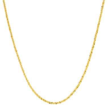 "jcpenney.com | 18K Gold Over Sterling Silver 20"" Criss-Cross Chain"