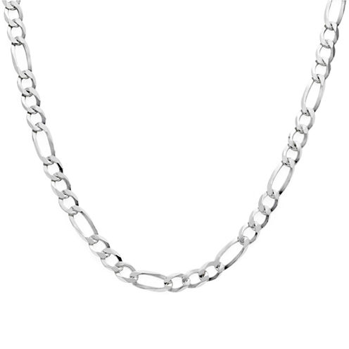 "Made in Italy Sterling Silver 24"" Figaro Chain"