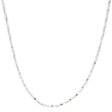 "jcpenney.com | Sterling Silver 18"" Twisted Square Snake Chain"