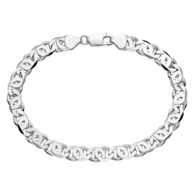"jcpenney.com | Mens Sterling Silver 9"" Bird Eye Link Bracelet"