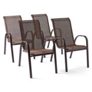 Outdoor Oasis Hambrick Set of 4 Outdoor Sling Chairs