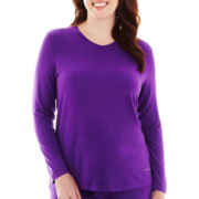 HotTotties Long-Sleeve V-Neck Shirt - Plus