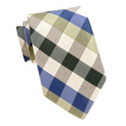 Stafford® Neutral Multi Gingham Tie