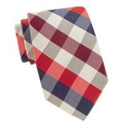 Stafford® Neutral Multi Gingham Tie
