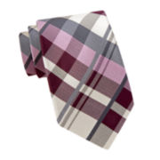 Stafford® Large Neutral Plaid Tie