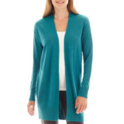 Worthington® Long-Sleeve Open-Front Cardigan Sweater