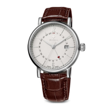 jcpenney.com | Swiza Mens White Dial Brown Leather Strap Watch
