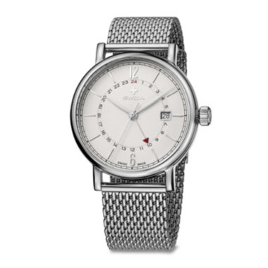 jcpenney.com | Swiza Mens White Dial Stainless Steel Bracelet Watch