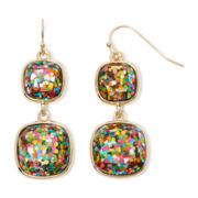 Liz Claiborne® Multicolor Double-Drop Earrings