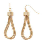 Liz Claiborne® Gold-Tone Looped Chain Drop Earrings