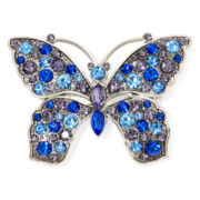 Monet® Blue Crystal Butterfly Pin