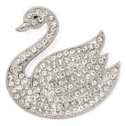 Monet® Crystal Swan Pin