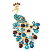 Monet® Crystal Peacock Pin