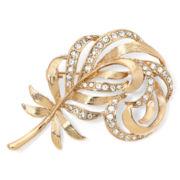 Monet® Crystal Leaf Pin