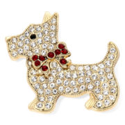 Monet® Crystal Dog Pin