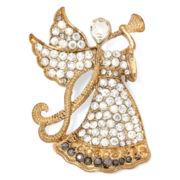 Monet® Crystal Angel Pin