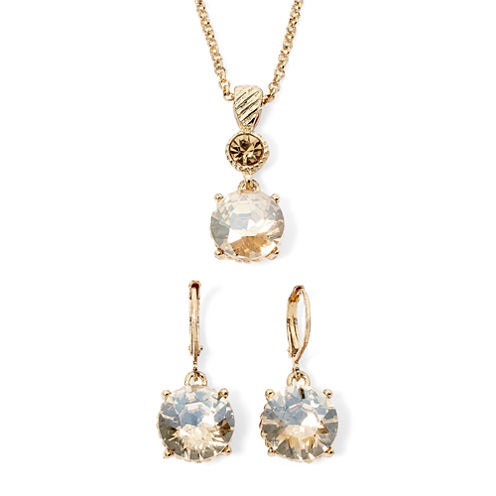 Monet® Champagne Crystal Earring and Necklace Boxed Set