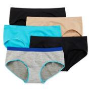 Flirtitude® 5-pk. Seamless Hipster Panties