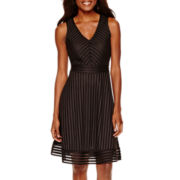 Worthington® Sleeveless Textured Fit-and-Flare Dress
