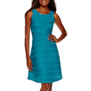 Worthington® Sleeveless Textured Fit-and-Flare Dress