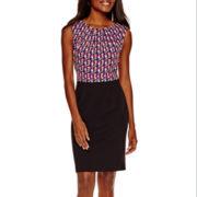 Worthington® Short-Sleeve Sheath Dress