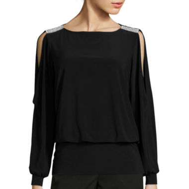 jcpenney.com | Msk Long Sleeve V Neck Blouse