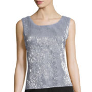 Studio 1® Sleeveless Sequin Tank
