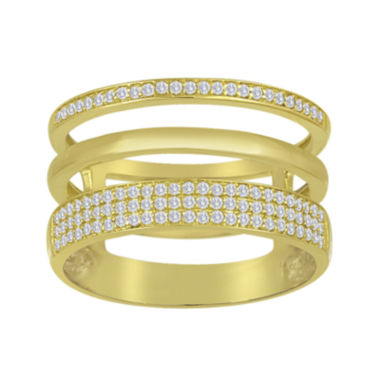 jcpenney.com | 1/3 CT. T.W. Diamond 14K Yellow Gold Over Sterling Silver Multi-Band Ring