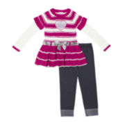 Little Lass Heart Tunic and Jeggings Set - Toddler Girls 2t-4t