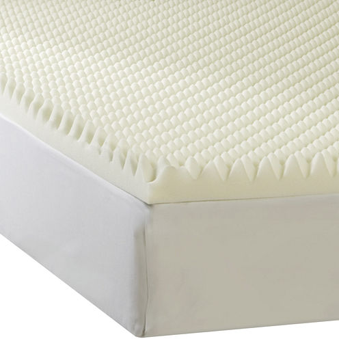 """Comforpedic from Beautyrest® 2"""" Textured Memory Foam Topper"""