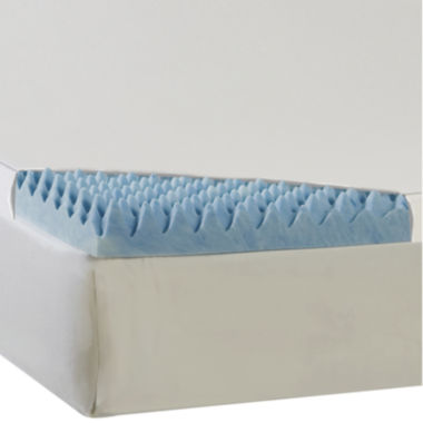 "jcpenney.com | Comforpedic from Beautyrest® 3"" Textured Gel Memory Foam Topper with 300TC Cover"