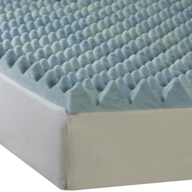 "jcpenney.com | Comforpedic from Beautyrest® 4"" Big Wave Gel Memory Foam Topper"