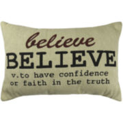 Park B. Smith® Believe Definition Decorative Pillow